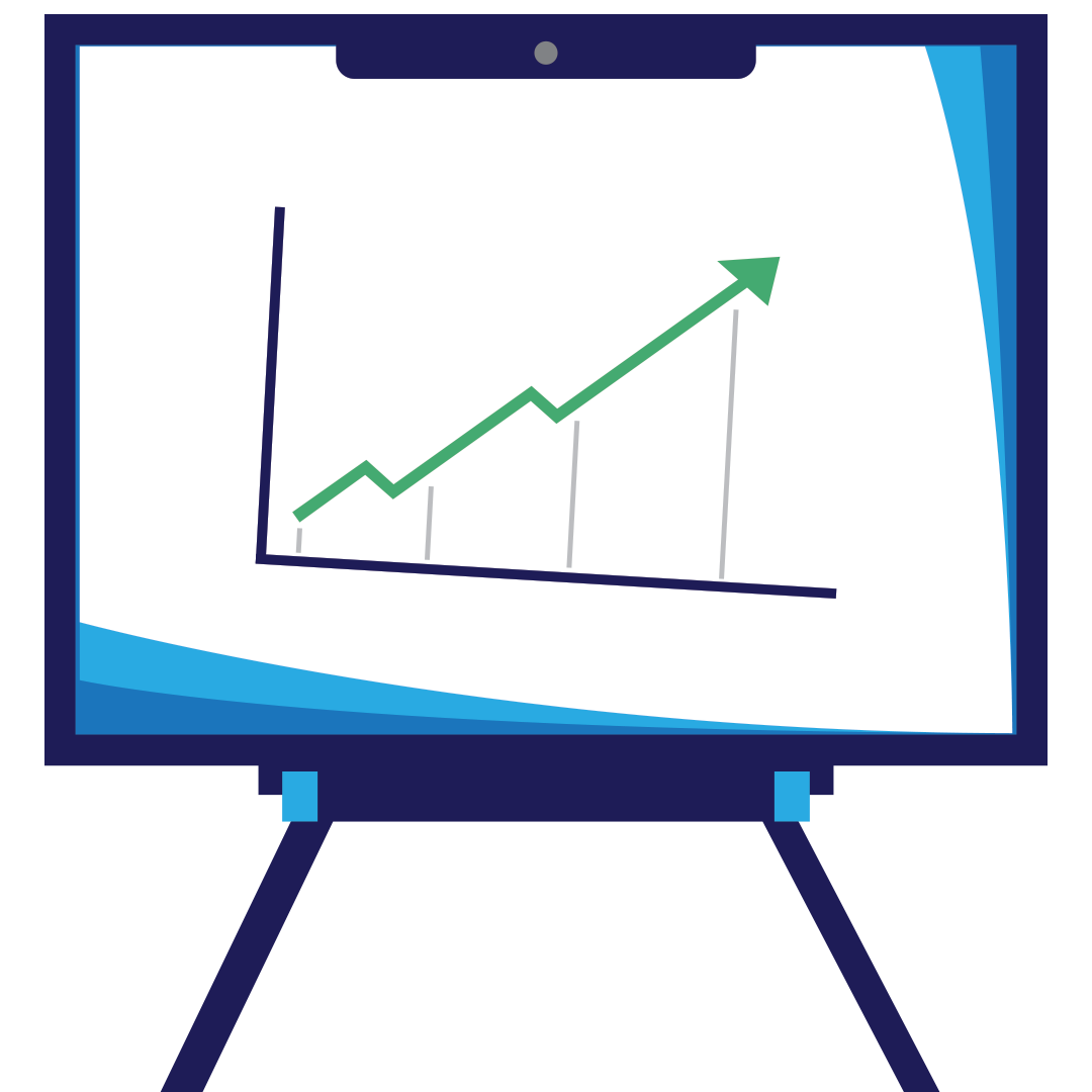 web marketing for results and return on investment computer graphic