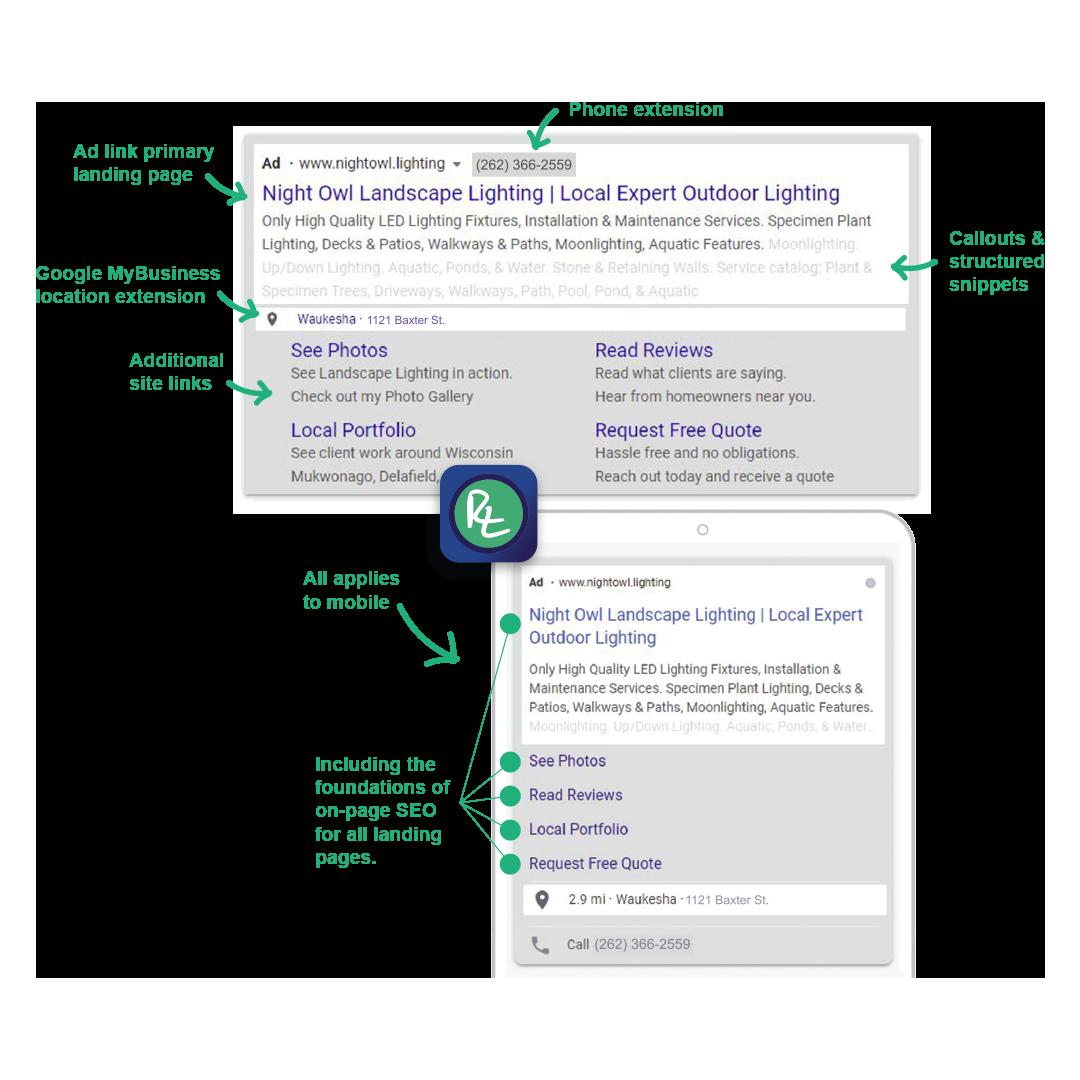 rjl web marketing ppc pay per click ads example